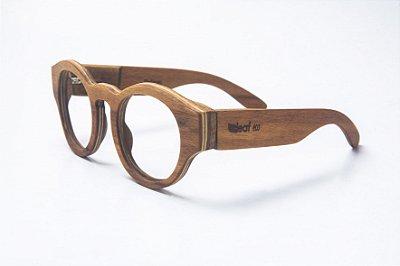 Armação de Óculos de Grau de Madeira Leaf Eco Pelican