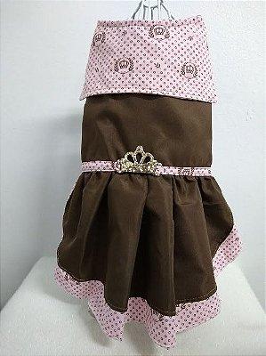Vestido Gola Marinheiro com babado e aplique
