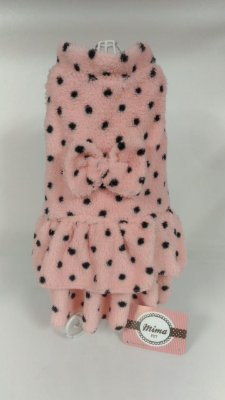 INV 107 - Vestido Pelúcia com babado