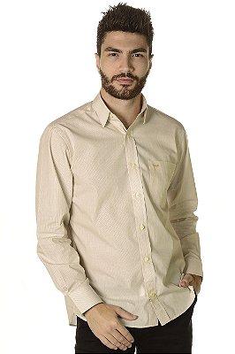 Camisa Listrada | Manga Longa Tradicional - 100% Algodão| Fio 60