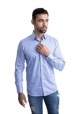 Camisa Slim - 100% Algodão - Fio 100