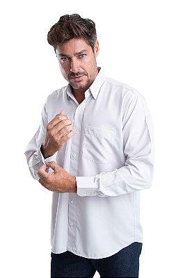 Camisa Lisa - 100% Poliéster - Fio Dry – (cinza claro)