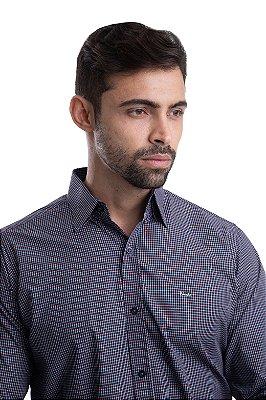 Camisa Xadrez 100% algodão – fio egípcio – (Preto/Branco)