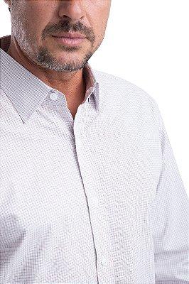 Camisa Xadrez – 100% algodão – fio 60 (branca/vermelha/azul)