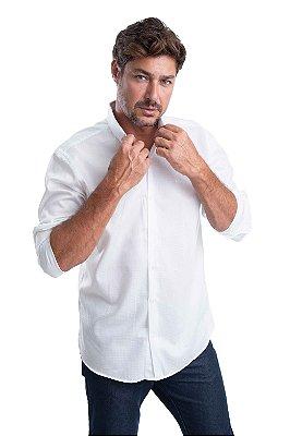 Camisa Maquineta Formato Losango – 100% algodão – Fio 60 (branca)