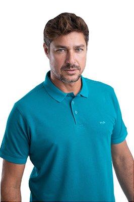 Gola Polo – Piquet Liso 100% algodão – Fio Pima  (cor verde)
