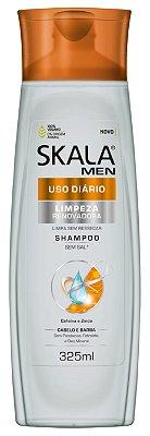Shampoo Skala For Men Uso Diário Limpeza Renovadora  325ml (Vegano)