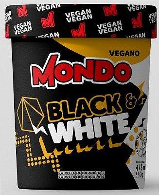 Sorvete Mondo Black and White 330g pote (massa)