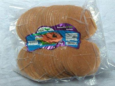 Presunto defumado de soja fatiado Goshen 1kg (Congelado)
