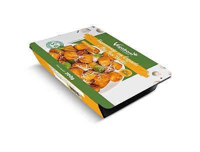 Travesseirinho de cogumelo e alho poró Vegano 300g (Congelado) embalagem com 9 unidades