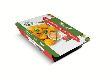 Bolinho de grão de bico com brócolis e queijo vegano 300g (Congelado) embalagem com 9 unidades