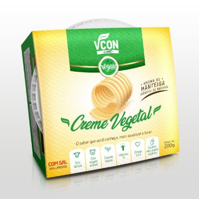 Creme vegetal sabor manteiga Vcon 200g