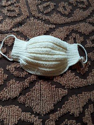 Máscara Crochet com forro em malha TNT tamanho adulto