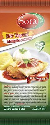 Proteína texturizada condimentada sabor carne branca. 125g (Filé)