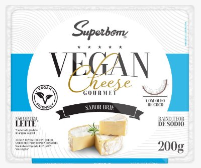 Queijo vegano gourmet Superbom sabor Brie 200g