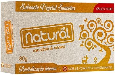 Sabonete Vegetal Com extrato de Cúrcuma Suavetex 80g