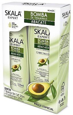 Kit Shampoo 325ml + condicionador 325ml Bomba de vitaminas Abacate Skala (vegano)