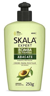 Creme para pentear sem enxague Bomba de vitaminas Abacate Skala 250g Vegano