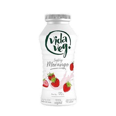 Iogurte de Morango Vidaveg  170g Feito com leite de coco