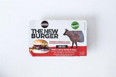 The New Burger Hambúrguer de plantas com sabor e textura de Carne 240g