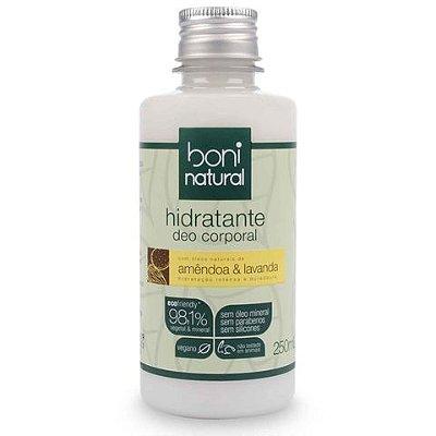 Hidratante deo corporal Amêndoa & Lavanda Boni Natural 250ml