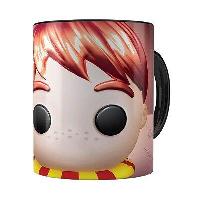 Caneca Harry Potter Ron 3D Print Preta