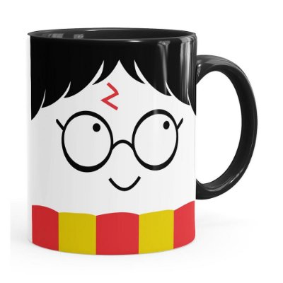Caneca Harry Potter Todos Temos Luz Preta