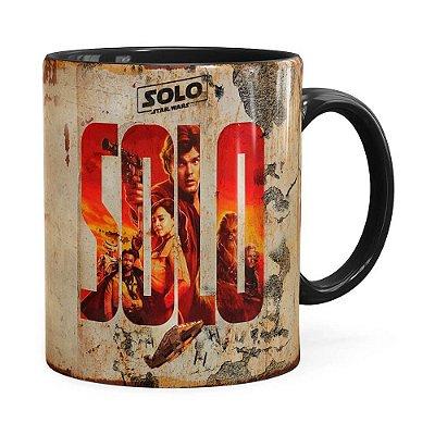 Caneca Han Solo Star Wars 3D Print Preta