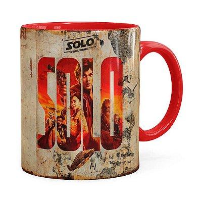 Caneca Han Solo Star Wars 3D Print Vermelha