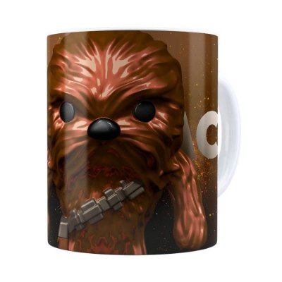 Caneca Star Wars Chewbacca 3D Print Branca