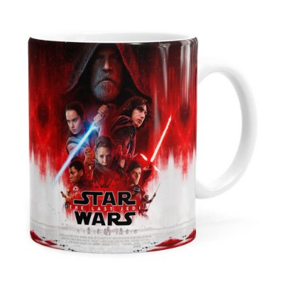 Caneca Star Wars The Last Jedi 3D Print Branca