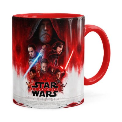 Caneca Star Wars The Last Jedi 3D Print Vermelha