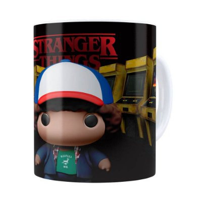 Caneca Dustin 3D Print Stranger Things Branca