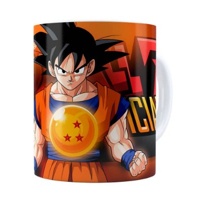 Caneca Dragon Ball Z 3D Print Branca