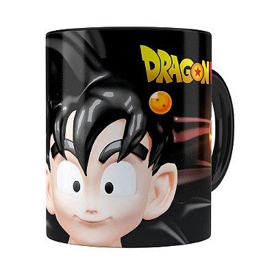 Caneca Goku 3D Print Dragon Ball Super Preta