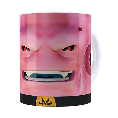 Caneca Majin Boo 3D Print Dragon Ball Branca