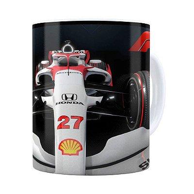 Caneca Fórmula 1 3D Print Branca