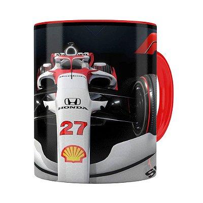 Caneca Fórmula 1 3D Print Vermelha