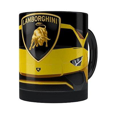 Caneca Lamborguini 3D Print Carros Preta