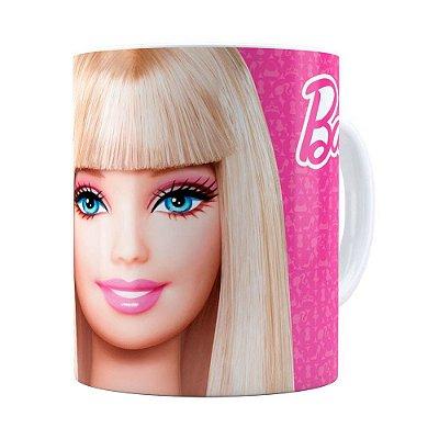 Caneca Barbie Boneca 3D Print Branca
