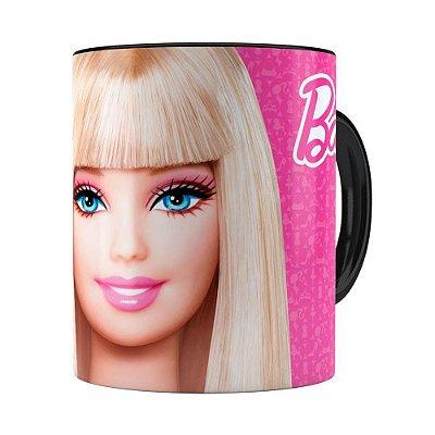 Caneca Barbie Boneca 3D Print Preta