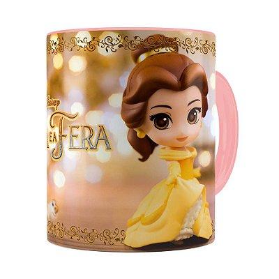 Caneca Bela e a Fera 3D Print Rosa