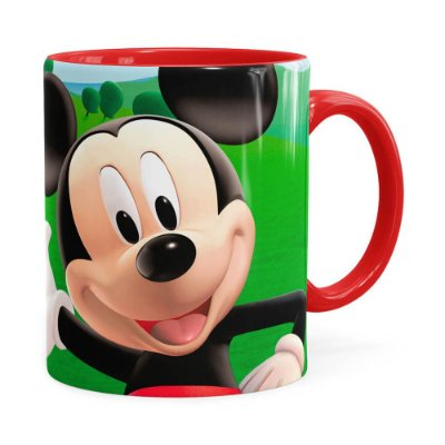 Caneca A Casa do Mickey Mouse Vermelho