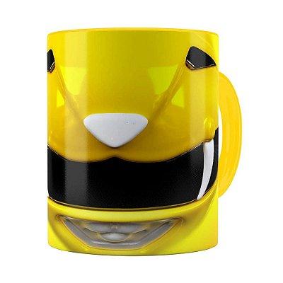 Caneca Ranger Amarelo 3D Print Power Rangers