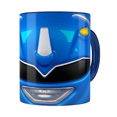Caneca Ranger Azul 3D Print Power Rangers Azul Escuro