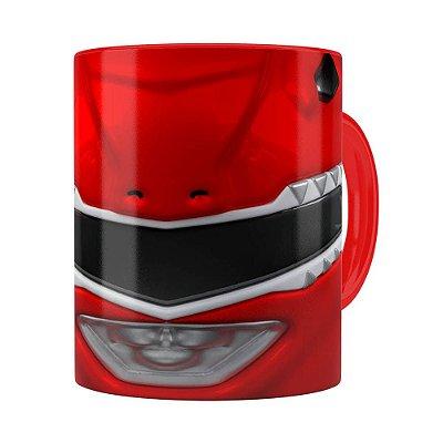 Caneca Ranger Red 3D Print Power Rangers Vermelha