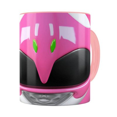 Caneca Ranger Rosa 3D Print Power Rangers Rosa