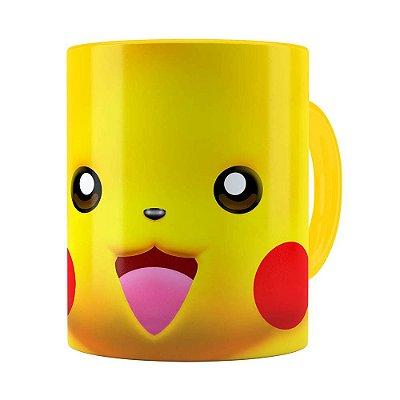 Caneca Pikachu 3D Print Pokémon Amarela