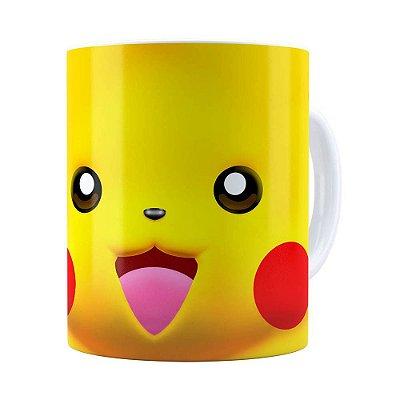 Caneca Pikachu 3D Print Pokémon Branca