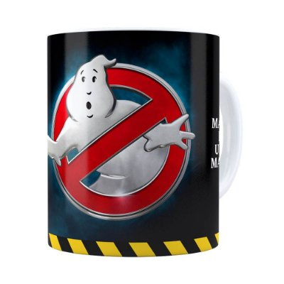Caneca Caça Fantasma 3D Print Branca
